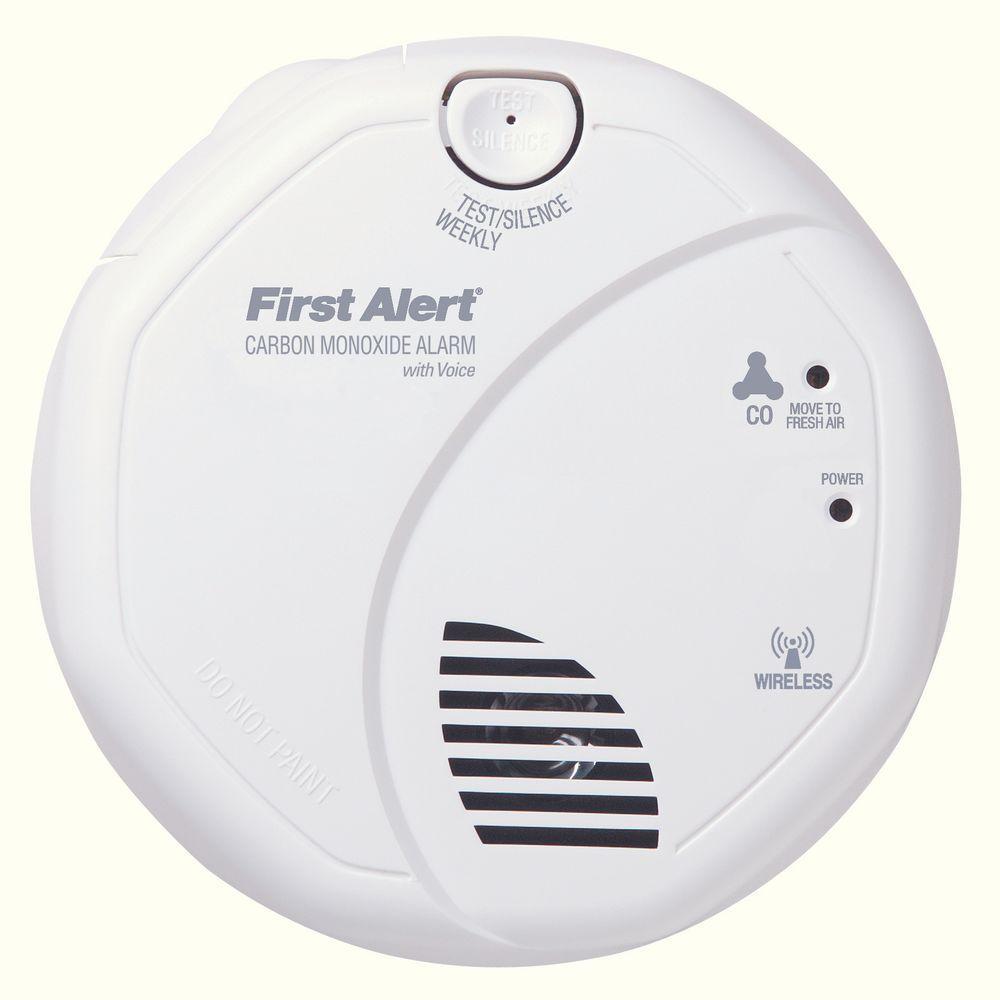Wireless Interconnect Carbon Monoxide Detector with Voice Alarm
