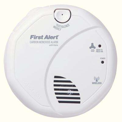 Wireless Interconnect Carbon Monoxide Detector with Voice Alarm