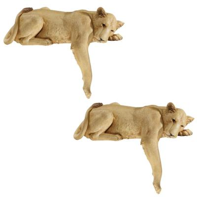 Lioness of Namibia Statue Set (2-Piece)