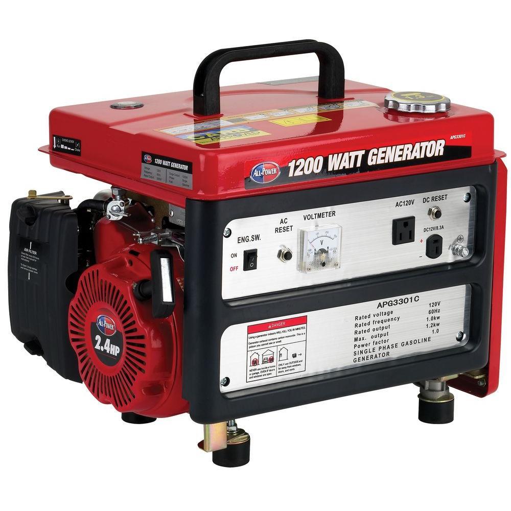 All Power 1,200-Watt Gasoline Powered Portable Generator