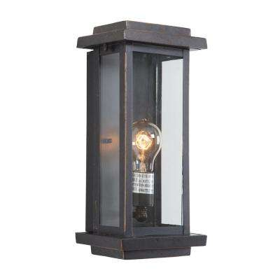 Ashlan Collection 1-Light Oil-Rubbed Bronze Outdoor Wall Mount Lamp