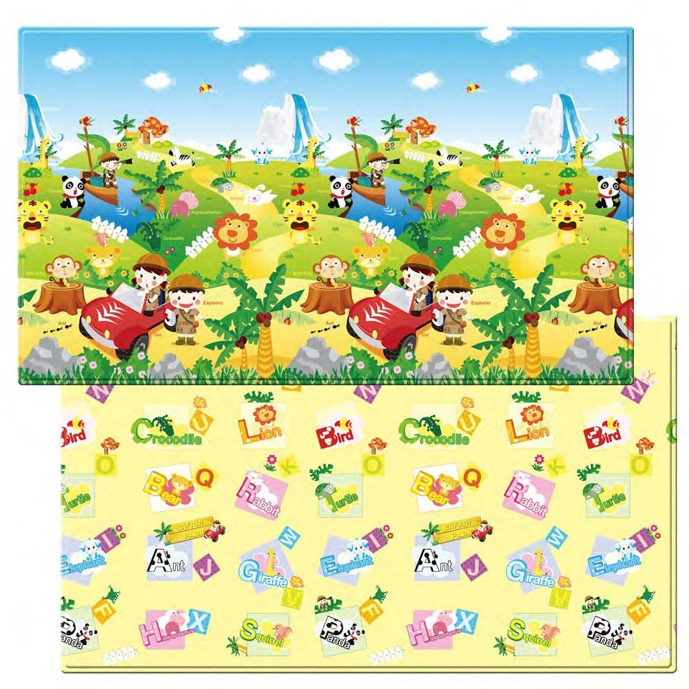 I-INC Safari 4 ft. 6 in. x 7 ft. 6 in. Play Mat, Variety ...