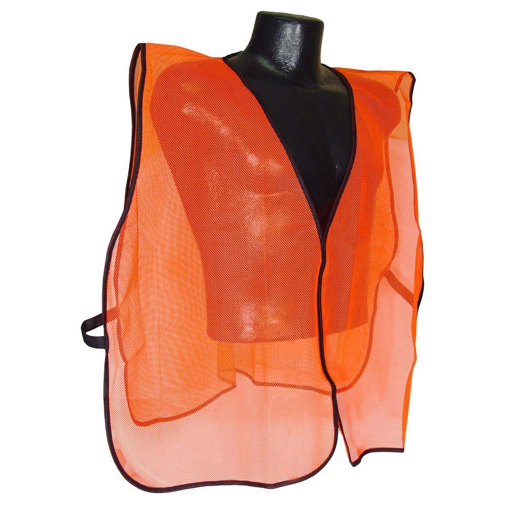 Safety Vest Orange Mesh No Tape