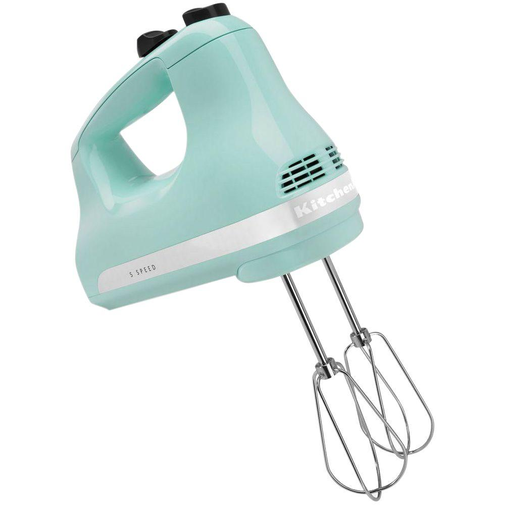 Kitchenaid Ultra Power 5 Speed Ice Blue Hand Mixer Khm512ic The
