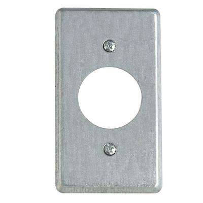4 in. Steel Box Cover for Single Round Receptacle (Case of 25)