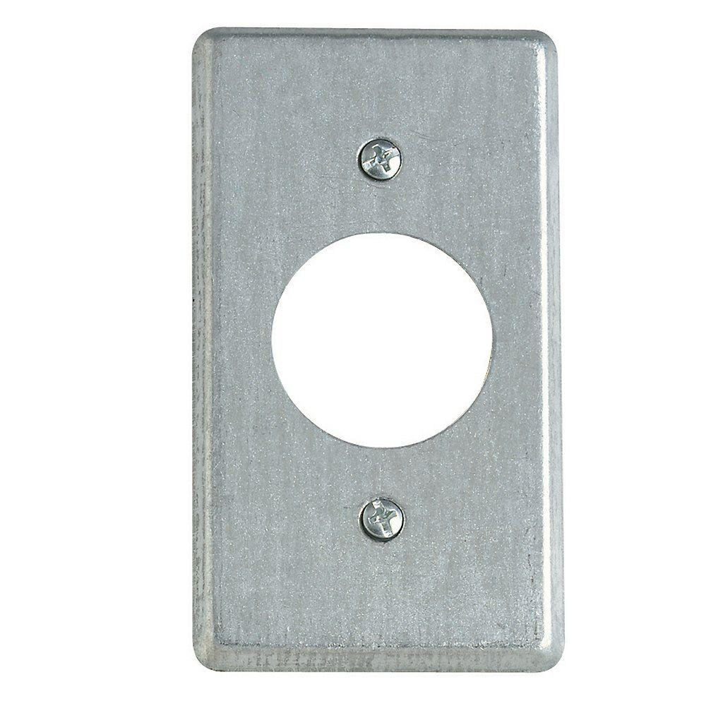 Steel City 4 In Steel Box Cover For Single Round Receptacle Case