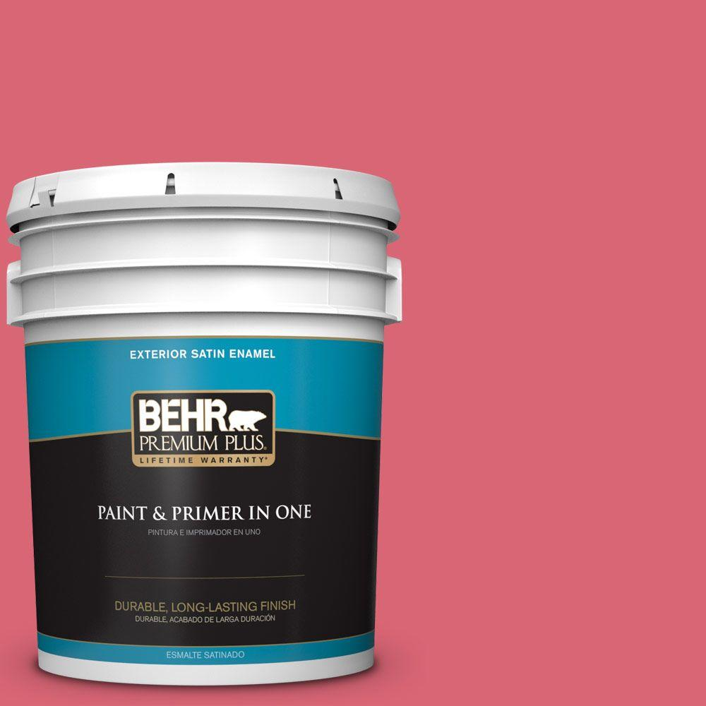 5-gal. #P150-5 Kiss and Tell Satin Enamel Exterior Paint