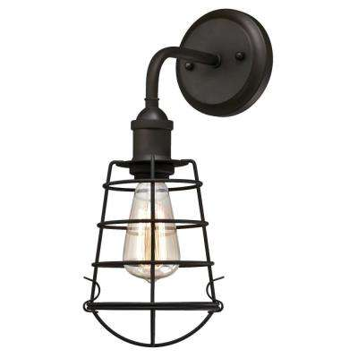 Oliver 1-Light Oil Rubbed Bronze Wall Mount Sconce