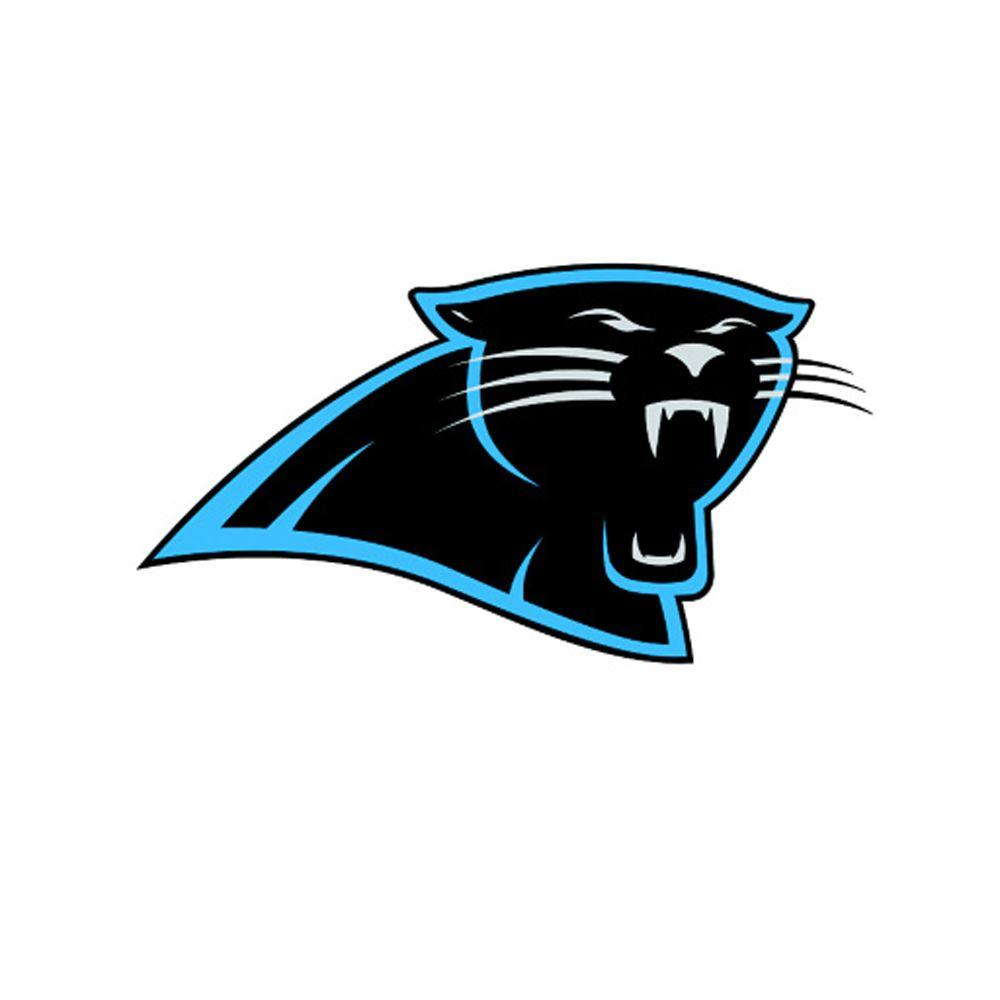 carolina panthers nfl teammate logo wall applique fh89 00496 the rh homedepot com panther logo key blank kw1 panther logo images