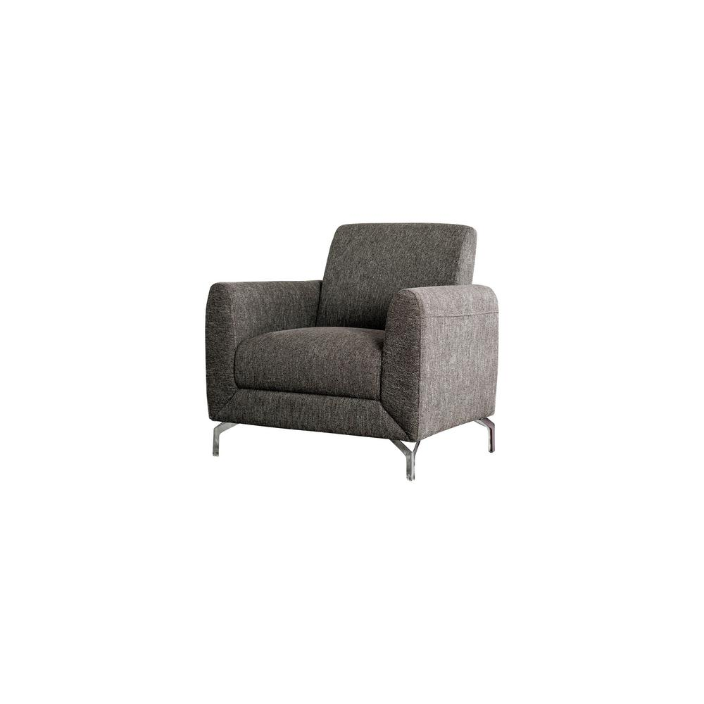 Strange Eleanor Brown Linen Accent Chair Machost Co Dining Chair Design Ideas Machostcouk