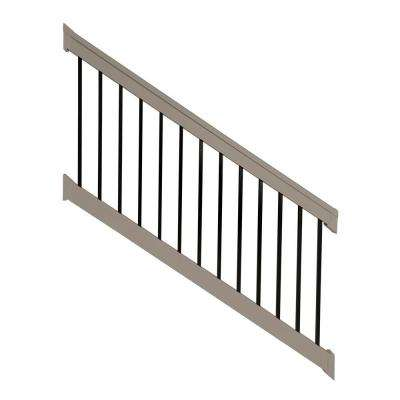 Vilano 3 ft. x H 8 ft. W Vinyl Khaki Stair Railing Kit