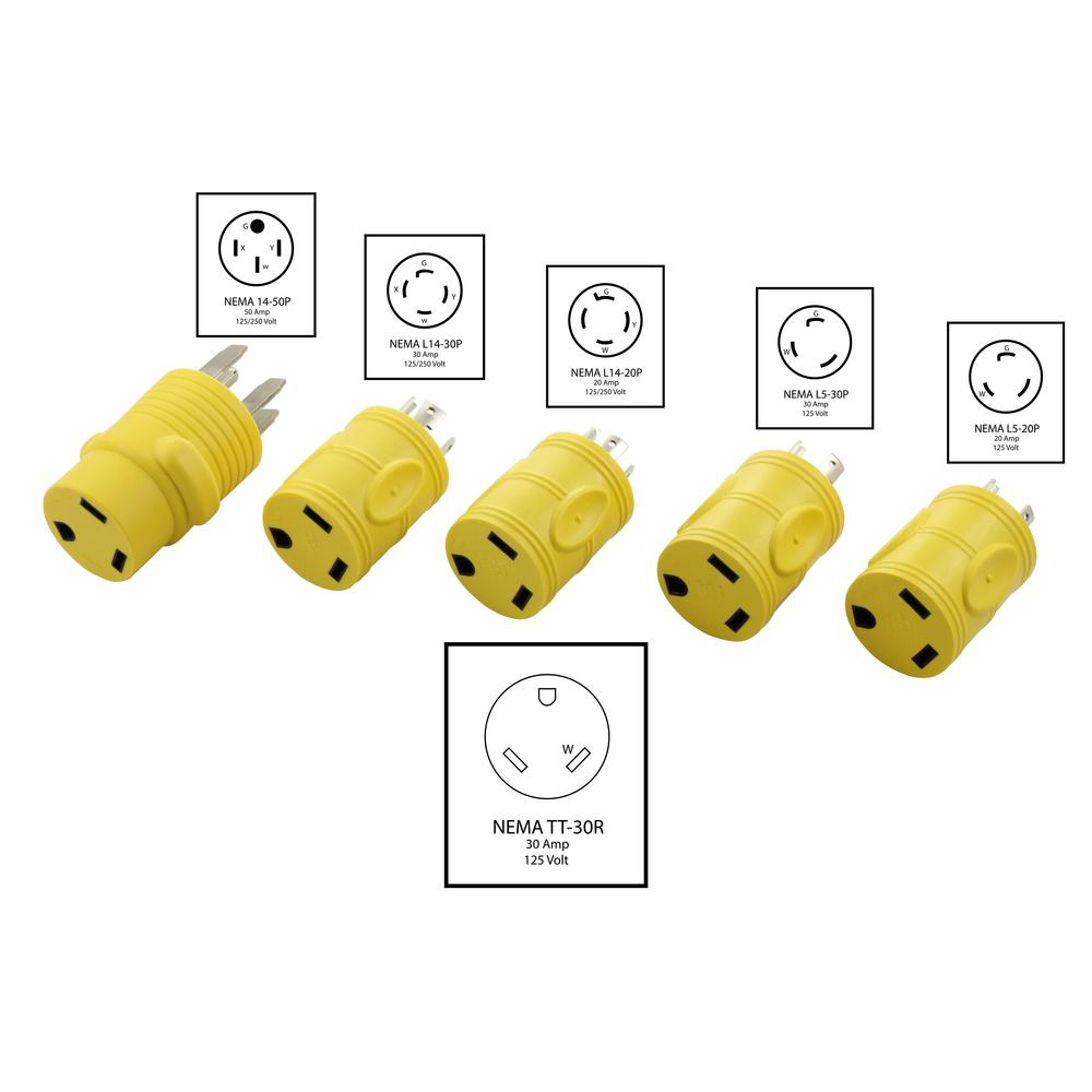 30 amp rv receptacle wiring diagram ac works rv 30 amp power adapter kit for a generator of nema l5 20 30 amp rv male plug wiring diagram ac works rv 30 amp power adapter kit