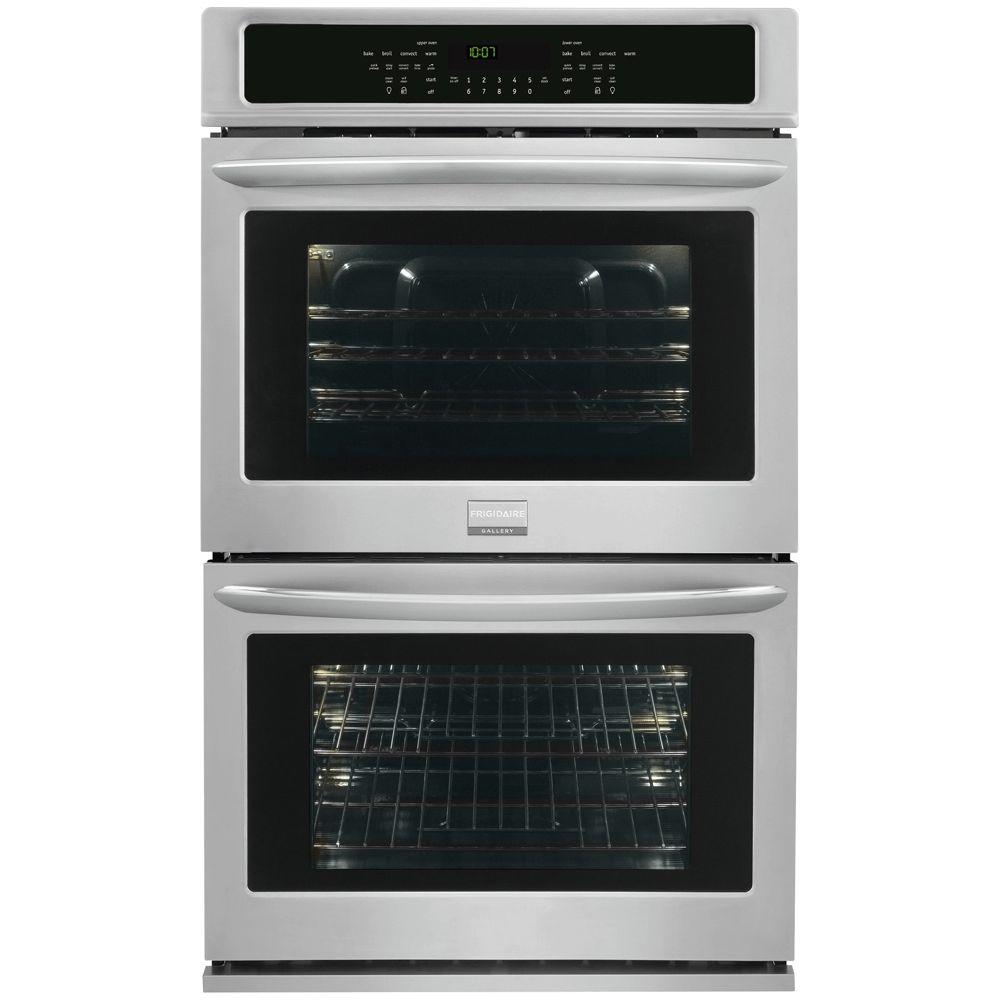 Oven Baking Element >> Frigidaire Gallery 30 in. Double Electric Wall Oven Self-Cleaning with Convection in Stainless ...