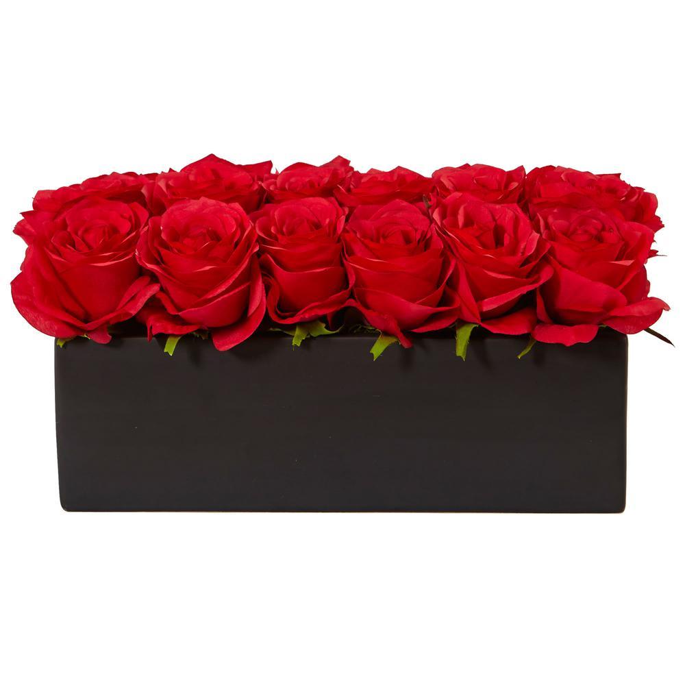 Nearly natural dozen silk roses 1487 bg the home depot nearly natural dozen silk roses mightylinksfo