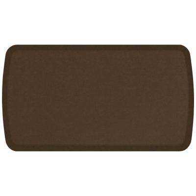 Elite Vintage Leather Rustic Brown 20 in. x 36 in. Comfort Kitchen Mat