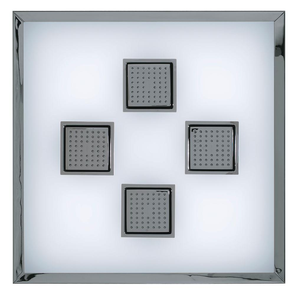 KOHLER WaterTile Ambient Rain with 54-Nozzle Square Sprayheads in Vibrant Brushed Nickel-DISCONTINUED