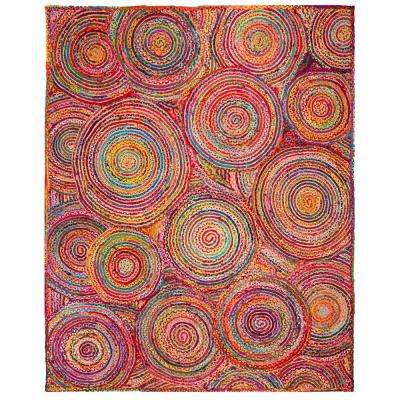 Cape Cod Red/Multi 8 ft. x 10 ft. Area Rug