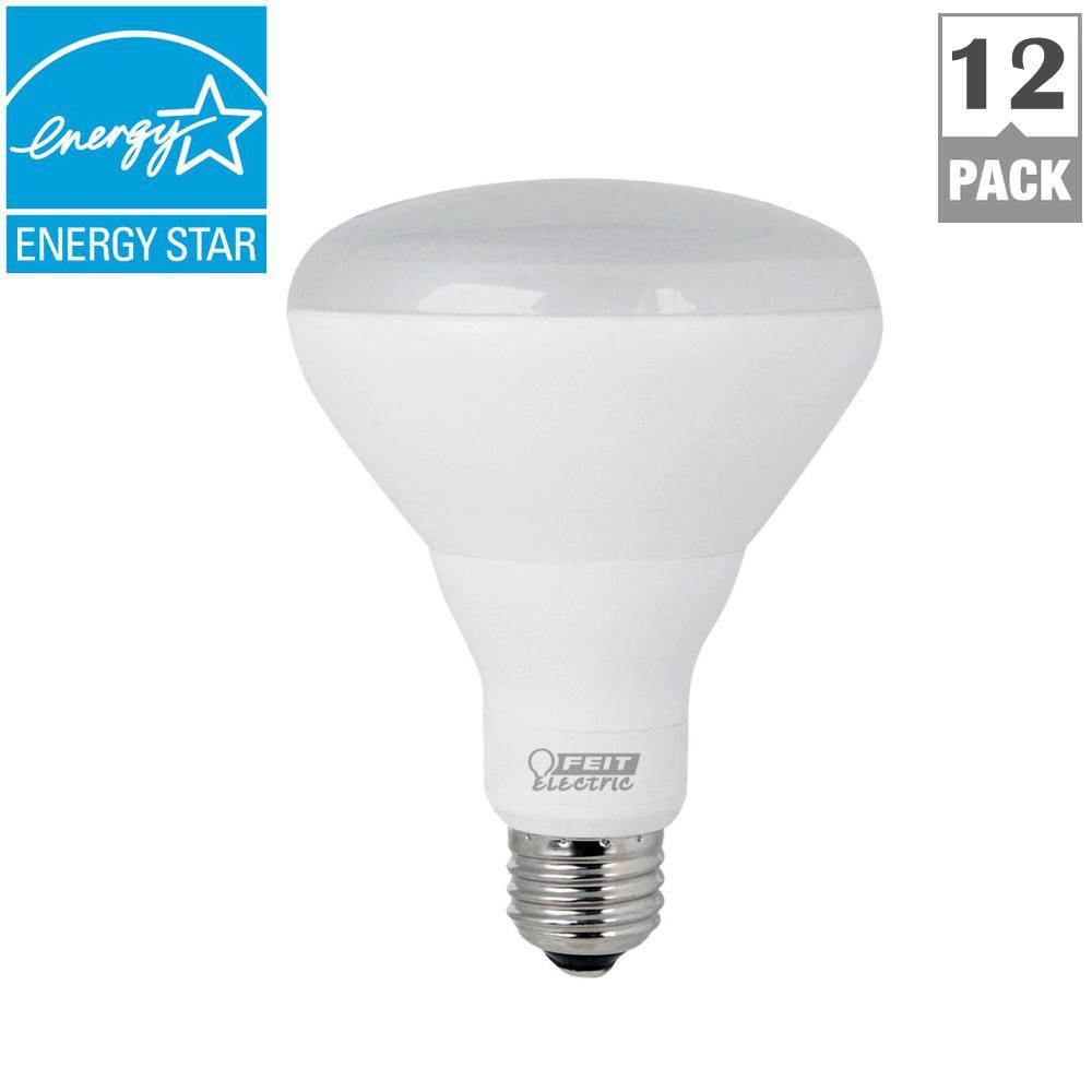 65W Equivalent Soft White (2700K) BR30 Dimmable Enhance LED Light Bulb (Case of 12)