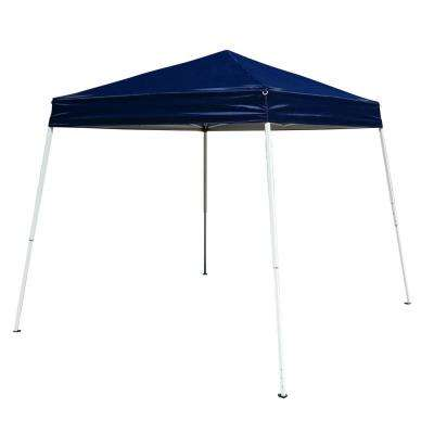 9.8 ft. x 9.8 ft. Portable Home Use Waterproof Folding Tent Blue Shed
