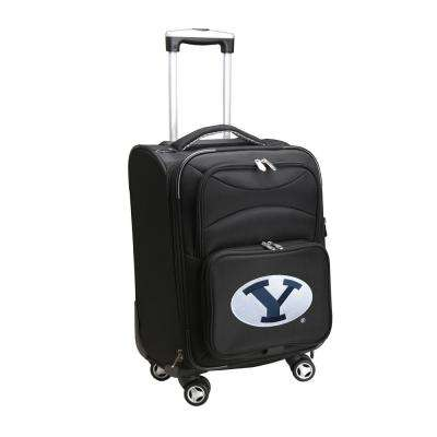 NCAA Brigham Young (BYU) 21 in. Black Carry-On Spinner Softside Suitcase