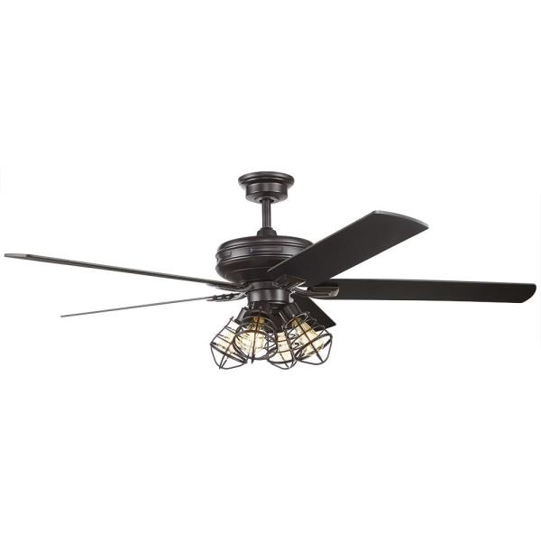 Led Matte Black Ceiling Fan With Remote Control And Light Kit Carlisle 60 In Ceiling Fans Lamps Lighting Ceiling Fans