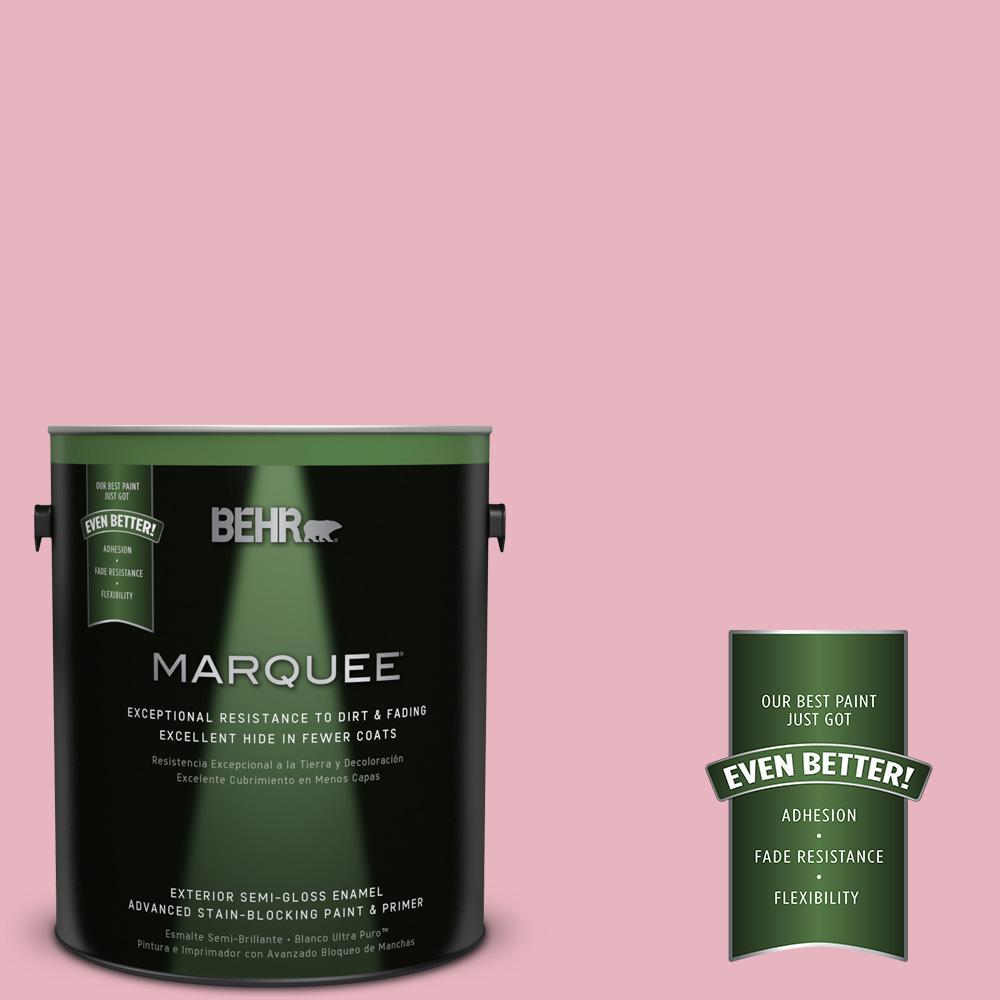 1-gal. #M140-3 Premium Pink Semi-Gloss Enamel Exterior Paint