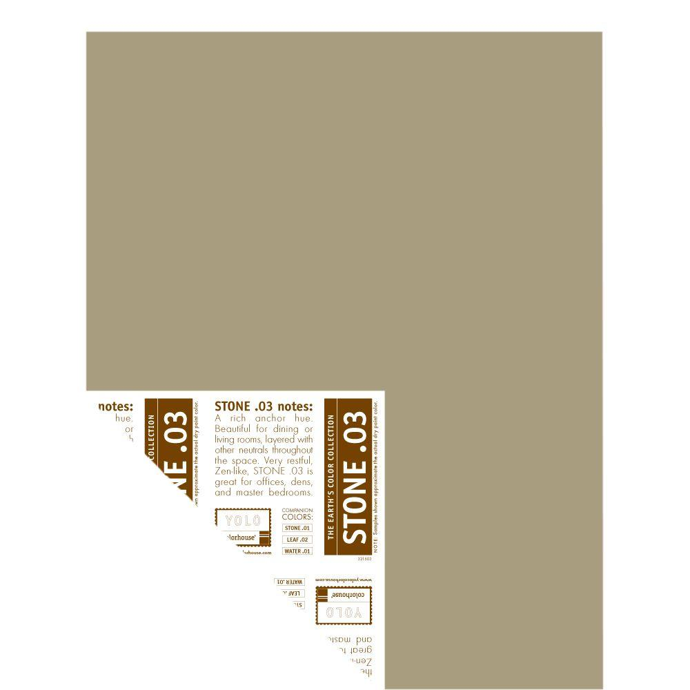 YOLO Colorhouse 12 in. x 16 in. Stone .03 Pre-Painted Big Chip Sample