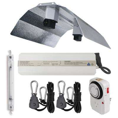 1000-Watt Double Ended HPS 1200-Volt/240-Volt Grow Light System with DE Basic Wing Grow Light Reflector