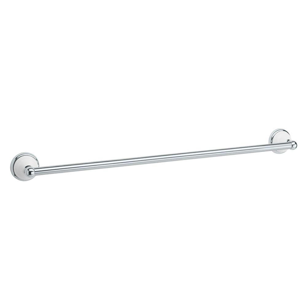 Gatco Franciscan 24 in. Towel Bar in Polished Chrome and Porcelain
