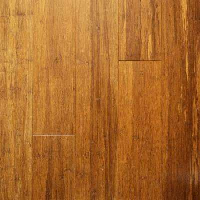 Carbonized .33 in. Thick x 5.12 in. Wide x 36.22 in. Length Engineered Rigid Core Bamboo Flooring (10.3 sq. ft. / case)