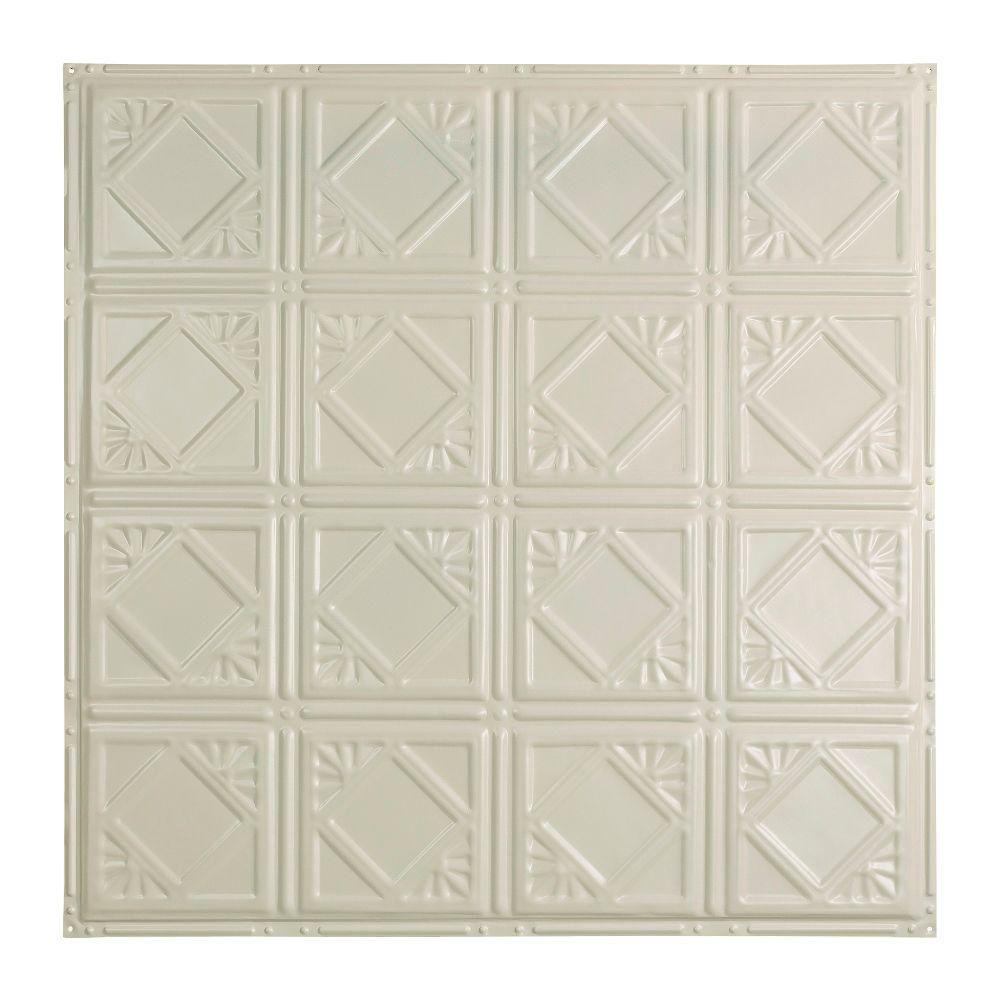 Ludington 2 ft. x 2 ft. Nail-up Tin Ceiling Tile in Antique White