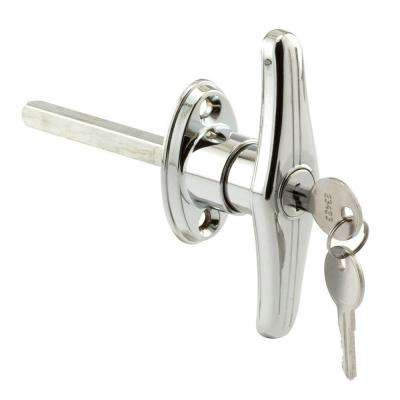 5/16 in. Square Shaft Chrome Keyed Alike T-Locking Door Handle (2-Pack)