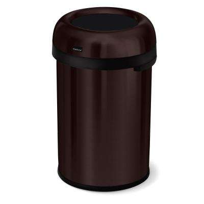 30 Gal Dark Bronze Heavy-Gauge Stainless Steel Bullet Round Open Top Trash Can