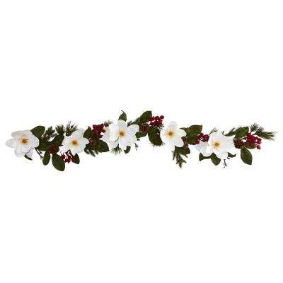 6 ft. Magnolia, Pine and Berries Artificial Garland