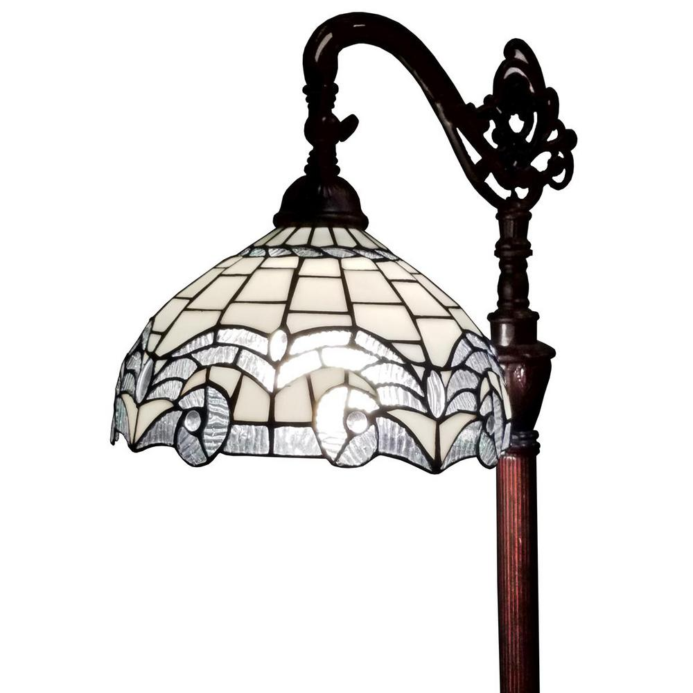 62 in. White Floor Lamp