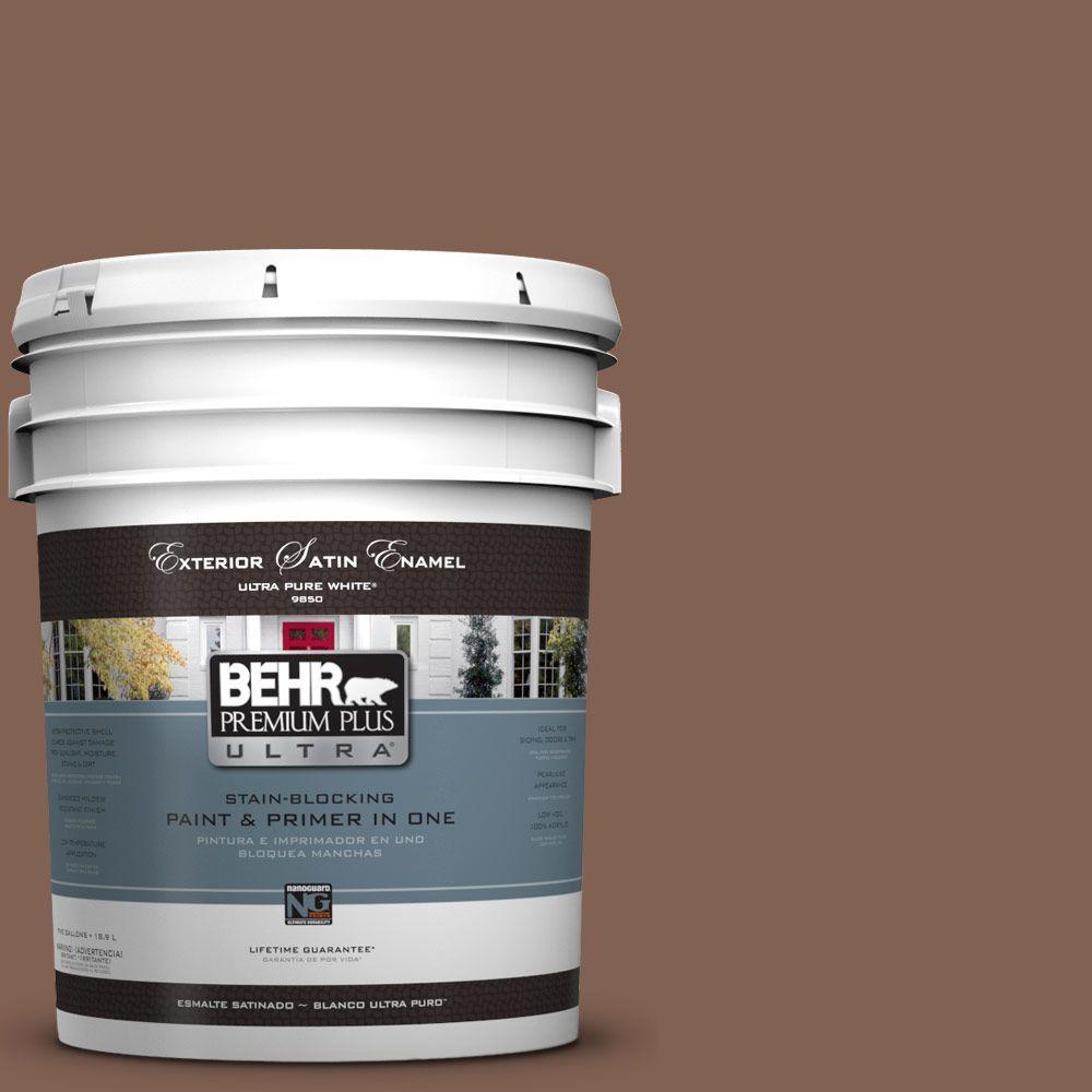 BEHR Premium Plus Ultra 5-gal. #HDC-SP14-6 Tilled Earth Satin Enamel Exterior Paint