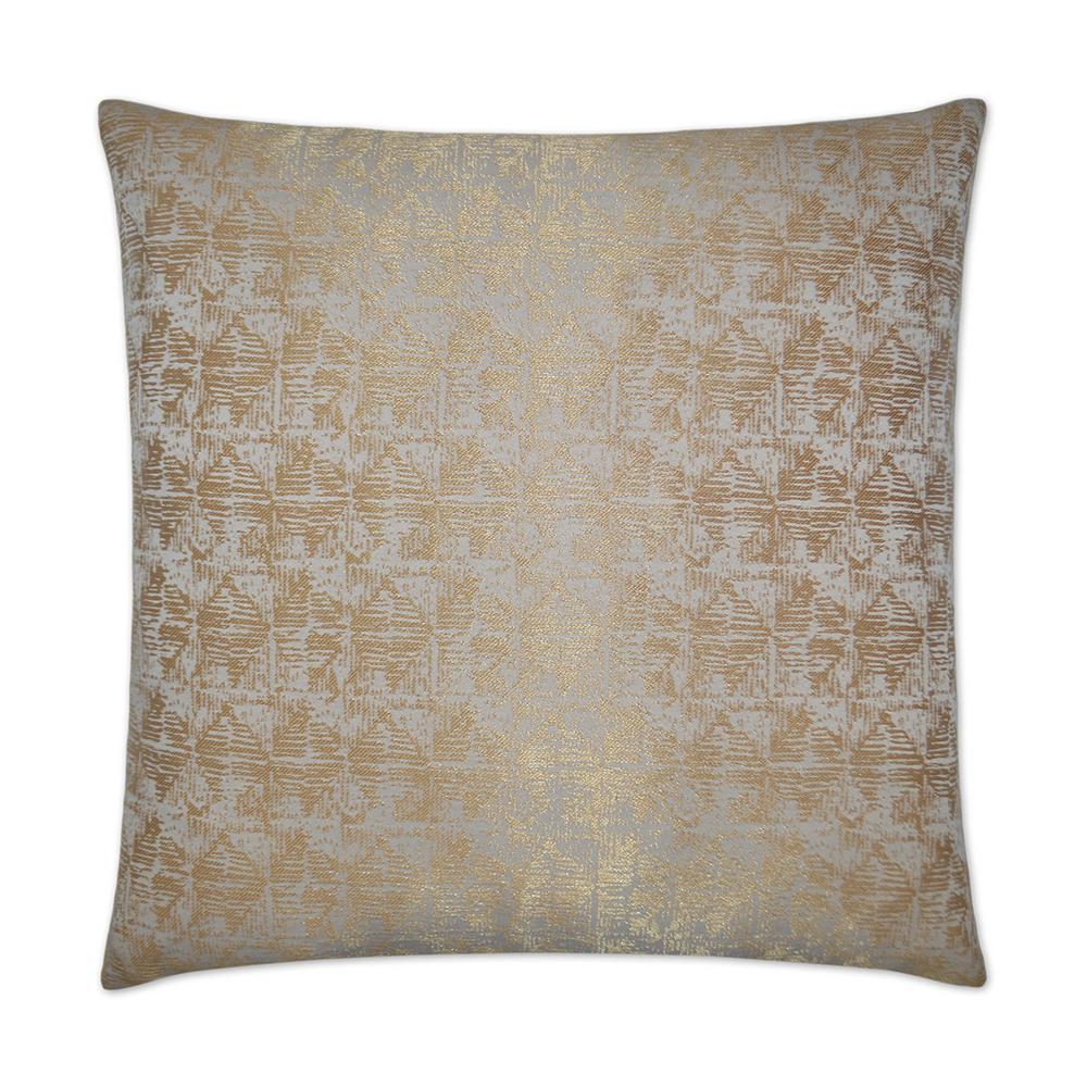 Anton Gold Feather Down 24 in. x 24 in. Decorative Throw Pillow