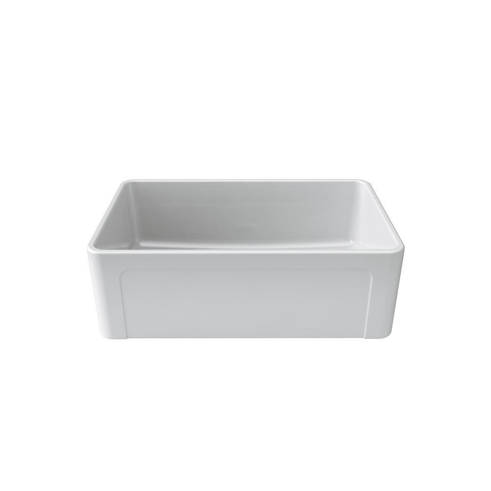 Latoscana Reversible Farmhouse Apron Front Fireclay 30 In Single Bowl Kitchen Sink In White
