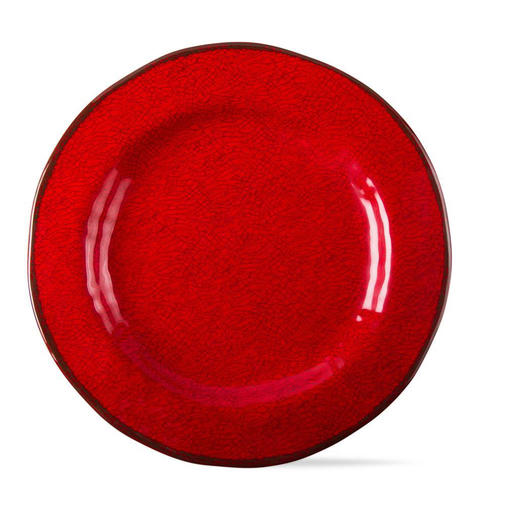 Red Melamine Dinner Plates (Set of 4)