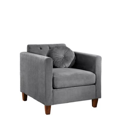 Lory velvet Kitts Classic Grey Chesterfield Chair