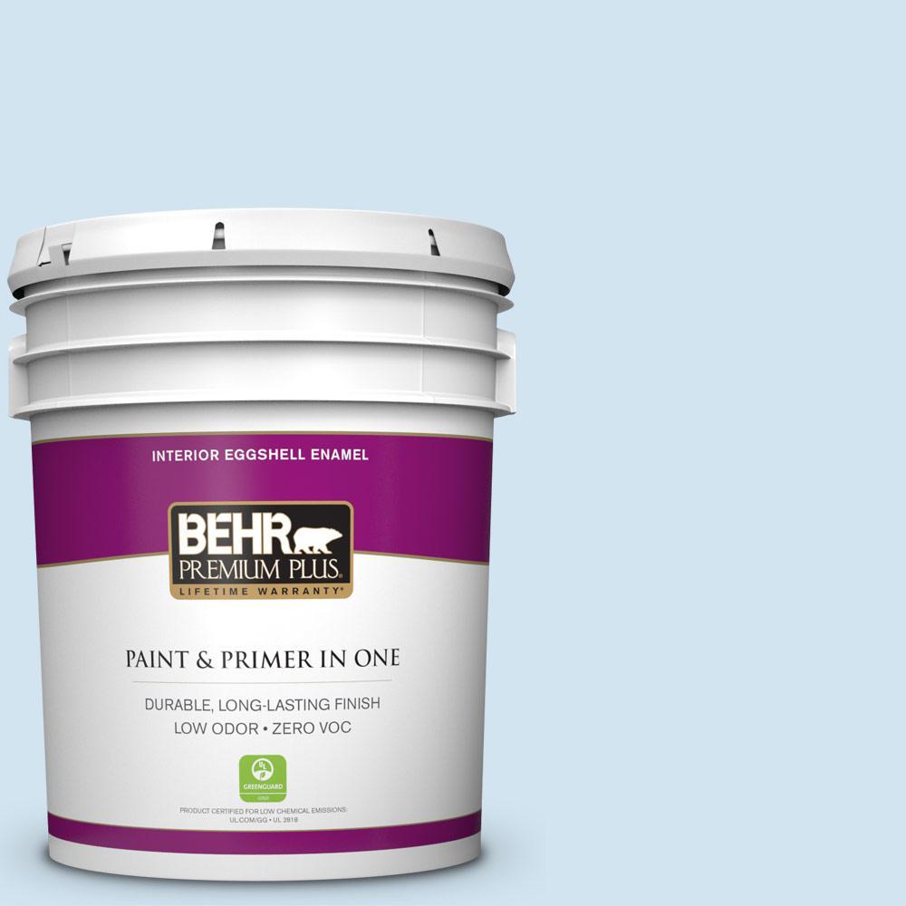 BEHR Premium Plus 5-gal. #570C-2 Mystic Harbor Zero VOC Eggshell Enamel Interior Paint