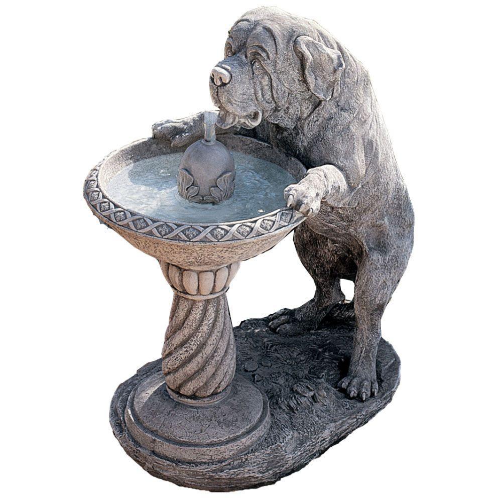 Design Toscano Saint Bernard Water Fountain-DISCONTINUED