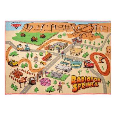 Radiator Springs Play Multi-Colored 5 ft. x 7 ft. Indoor Juvenile Area Rug