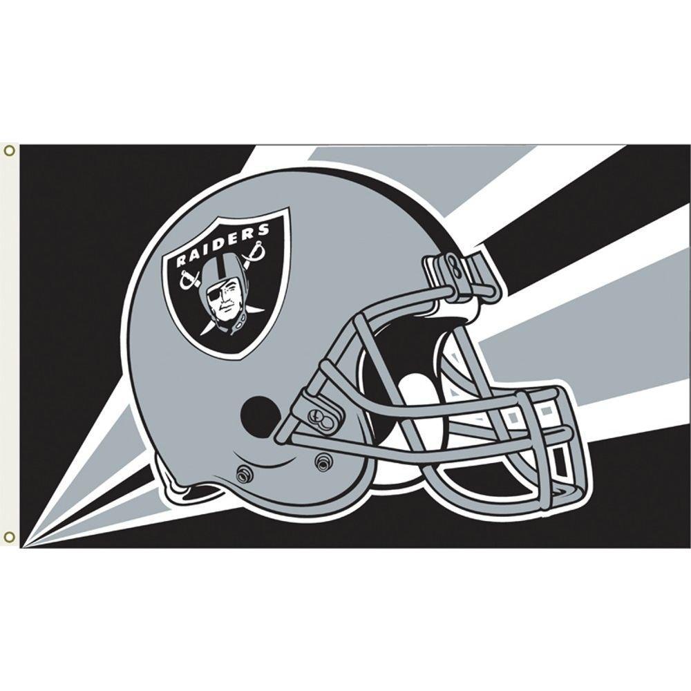 3 ft. x 5 ft. Polyester Oakland Raiders Flag