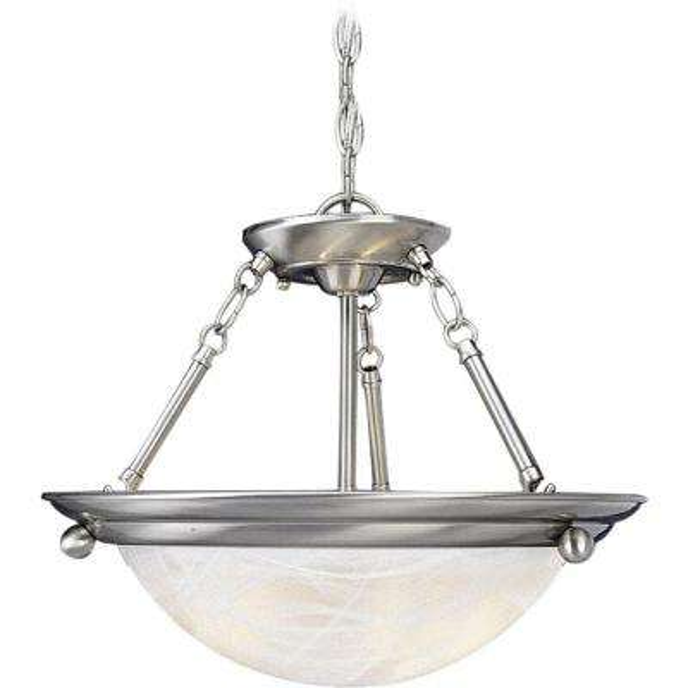 Lunar 3-Light Brushed Nickel Interior Pendant