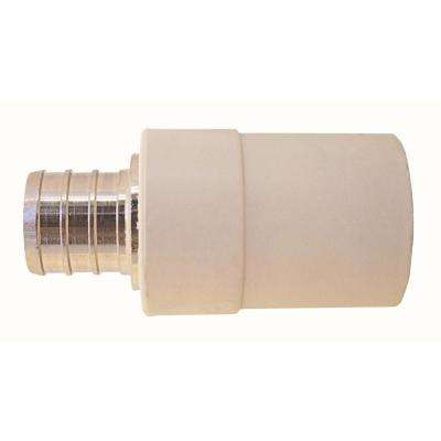 3/4 in. Chrome Plated Brass PEX Barb x CPVC CTS Transition Coupling