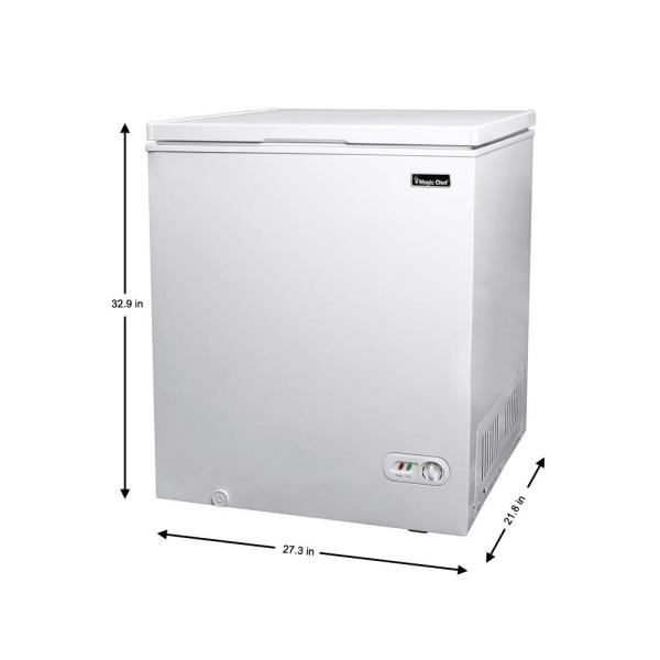 Magic Chef 5 0 Cu Ft Chest Freezer In White Hmcf5w4 The Home Depot