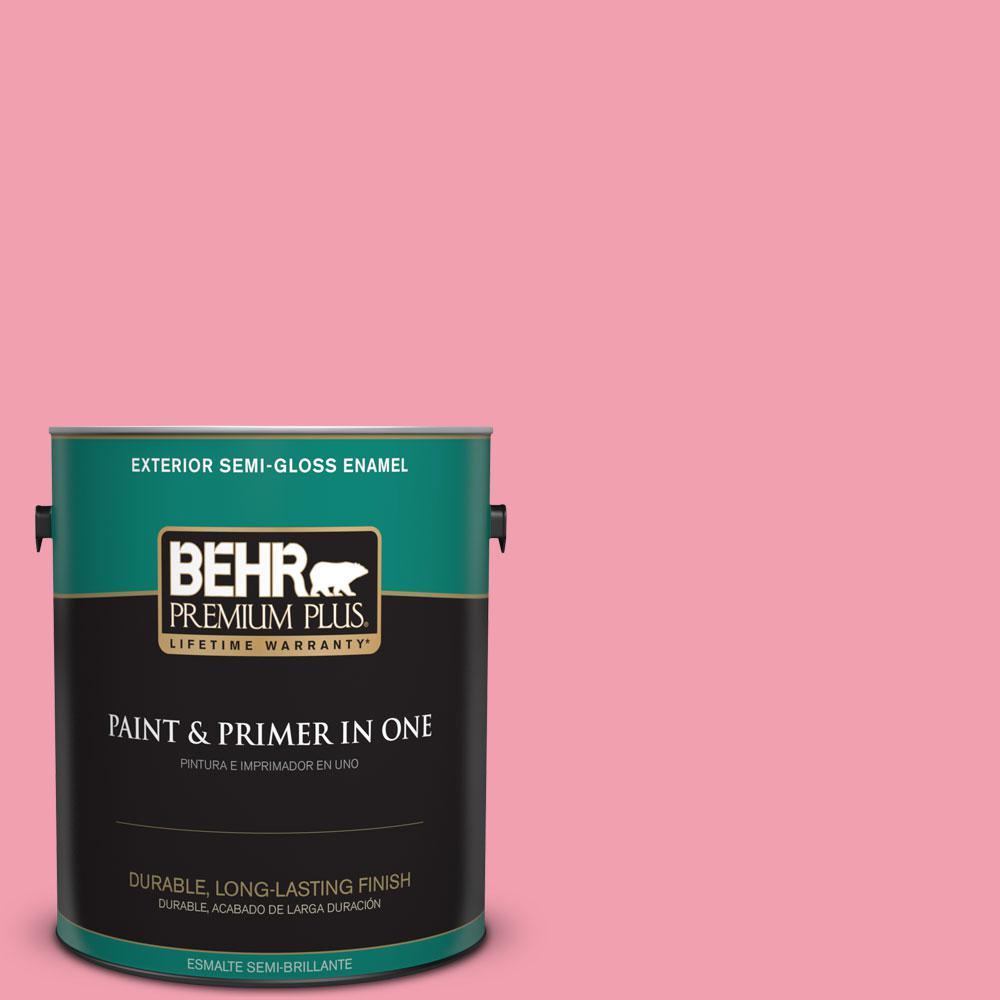 1-gal. #120B-5 Candy Coated Semi-Gloss Enamel Exterior Paint