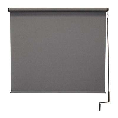 120 in. W x 96 in. L Morro Bay Elite PVC Fabric Outdoor Roller Shade Cordless Pole Operated
