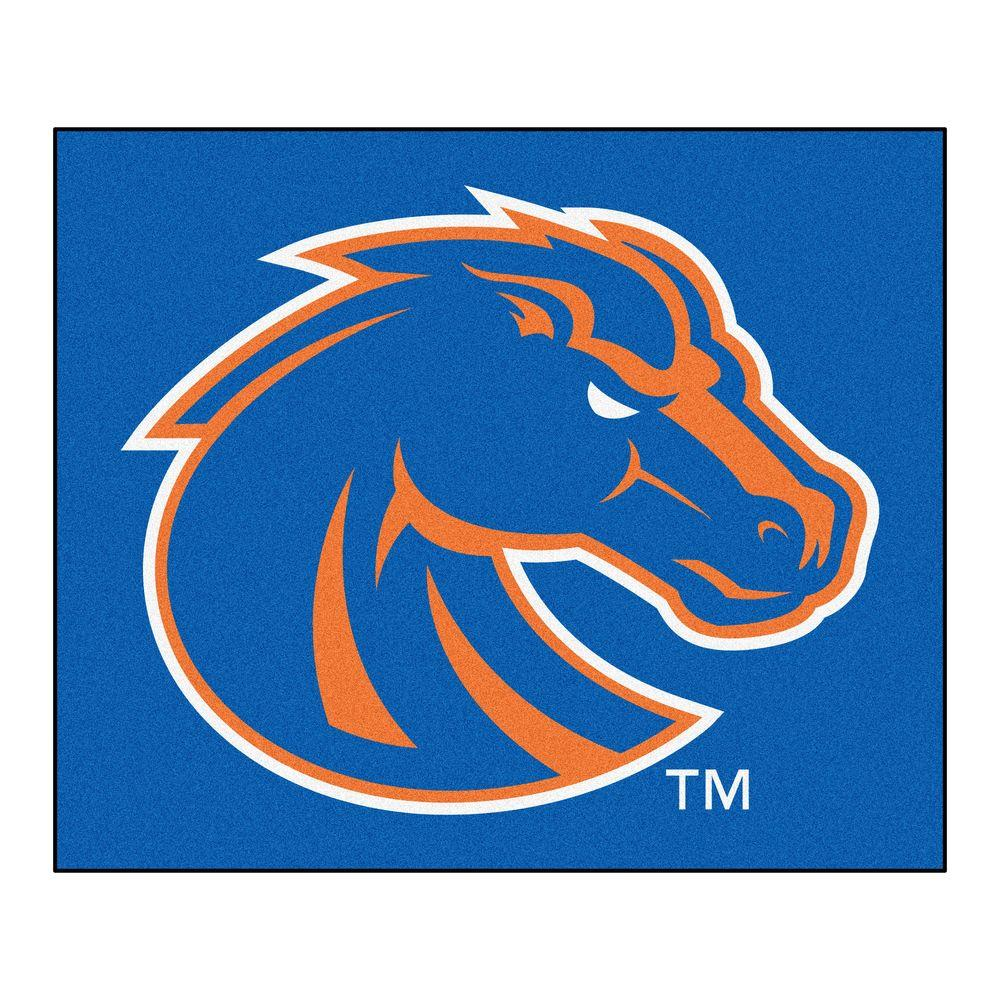 FANMATS NCAA Boise State University Blue 5 ft. x 6 ft. Indoor/Outdoor Tailgater Area Rug